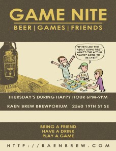 Games & Drinks @ Raen Brew